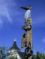 Totems in Alaska - Photo by Bruce Whittington