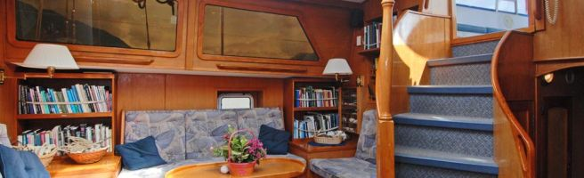 Interior and accommodation in the Island Roamer with Bluewater Adventures