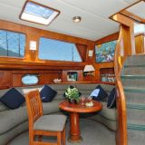 Yacht interior salon on the Island Odyssey